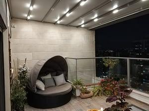 פרגולה דגם סטאר עם מערכת תאורה