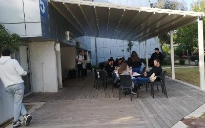 פרגולת אלומיניום נאספת דגם סטאר אגודת הסטודנטים